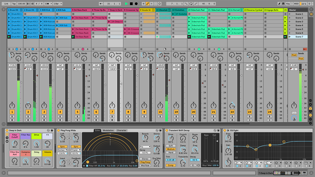 Ableton Live 10 impression interface